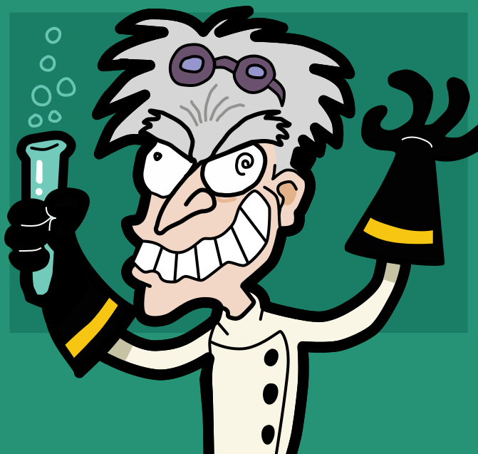 Professor Hector, the Mad Scientist